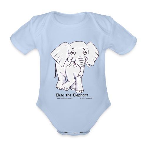 Elise the Elephant Named - Organic Short-sleeved Baby Bodysuit