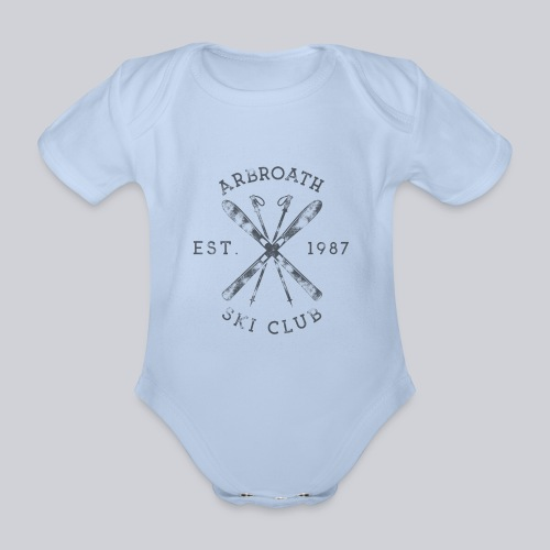 Arbroath Ski Club - Organic Short-sleeved Baby Bodysuit