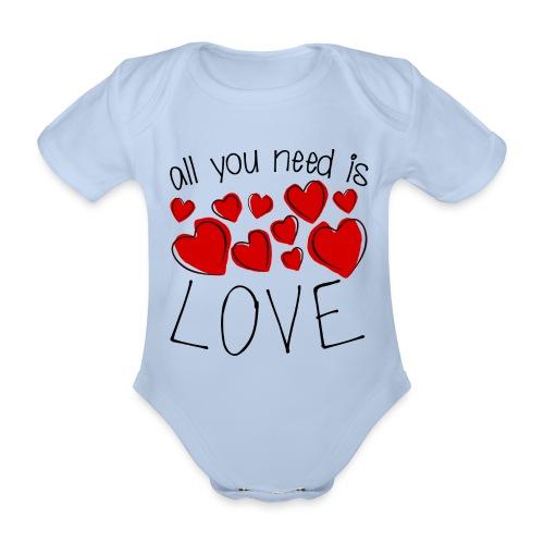 All you need is love - Baby Bio-Kurzarm-Body