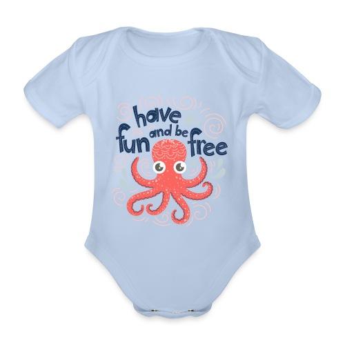 HaveFunAndBeFree - Body Bébé bio manches courtes
