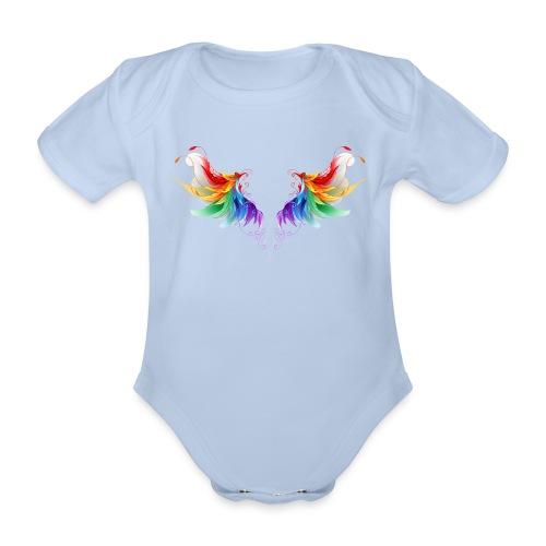 Ailes d'Archanges aux belles couleurs vives - Body Bébé bio manches courtes