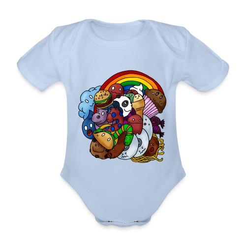 Happy Colors - Baby Bio-Kurzarm-Body