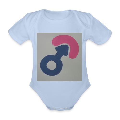 bobfahrer symbol - Baby Bio-Kurzarm-Body