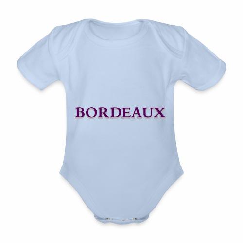 Bordeaux violet - Organic Short-sleeved Baby Bodysuit