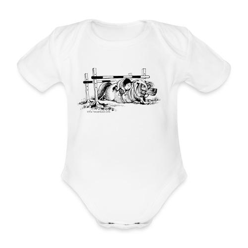 Thelwell Cartoon Pony Sturz - Baby Bio-Kurzarm-Body