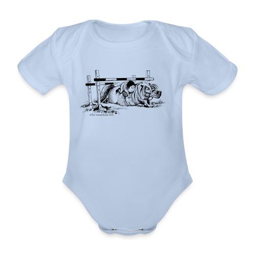 PonyFall Thelwell Cartoon - Organic Short-sleeved Baby Bodysuit