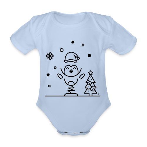 Noël pengouin 1 - Body Bébé bio manches courtes