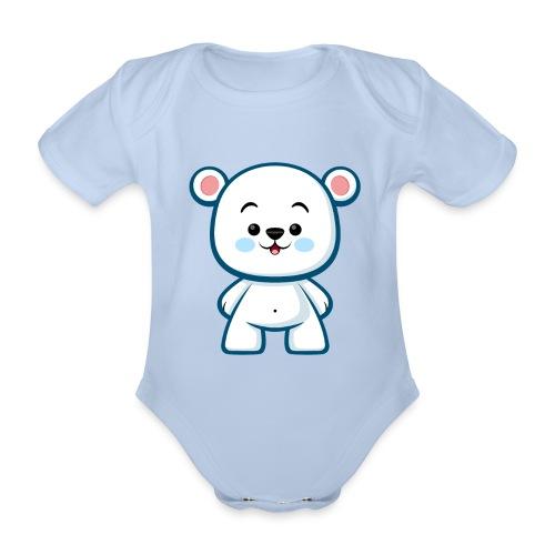 Polar Bear Boy - Kawaii - Organic Short-sleeved Baby Bodysuit