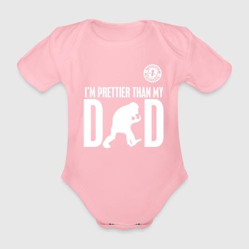 DAD WHITE png - Kortærmet babybody, økologisk bomuld