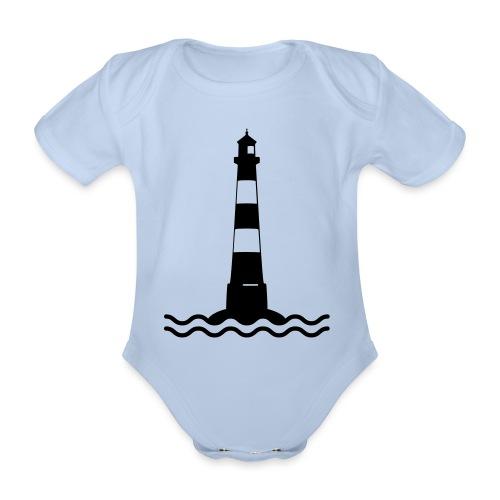 Leuchtturm Wellen Meer Schifffahrt See Küste - Baby Bio-Kurzarm-Body