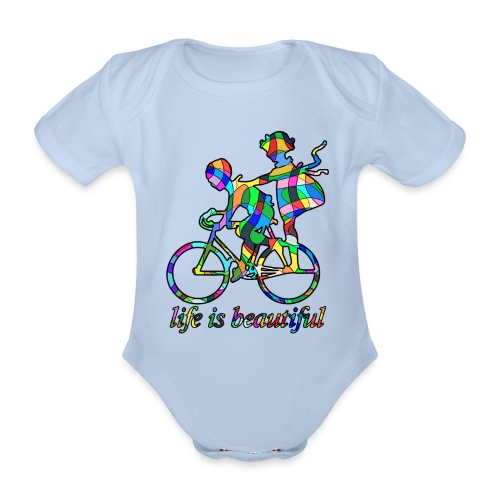 Life is beautiful - Baby Bio-Kurzarm-Body