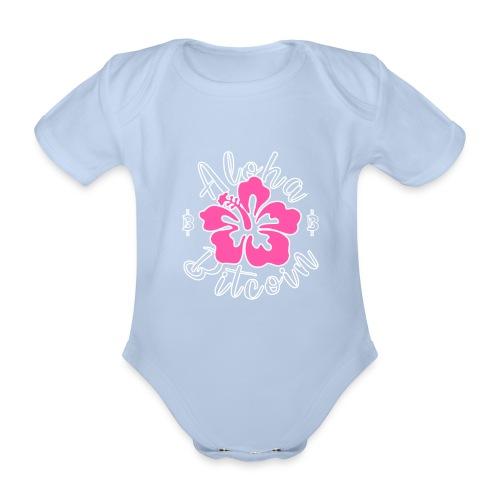 Aloha Bitcoin! - Body orgánico de maga corta para bebé