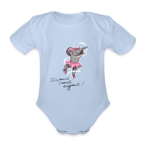 Elefant tanzt elegant - Baby Bio-Kurzarm-Body
