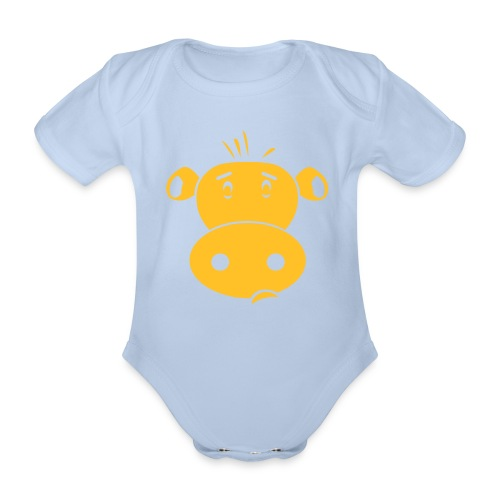 Friendly Cow - Baby bio-rompertje met korte mouwen