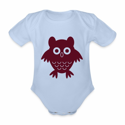 My friend the owl - Organic Short-sleeved Baby Bodysuit