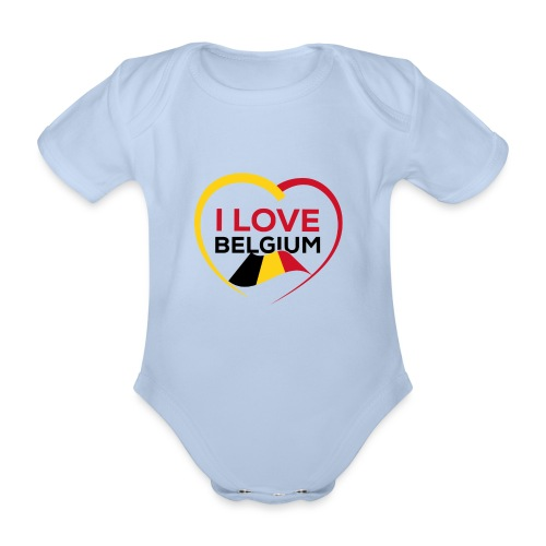 I LOVE BELGIUM FLAG - Body Bébé bio manches courtes