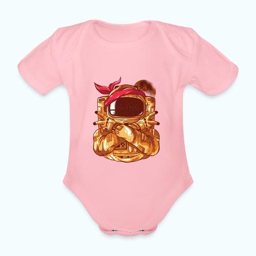 Rebel astronaut - Organic Short-sleeved Baby Bodysuit
