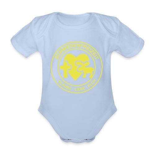 Schwedenfreizeit Logo - Baby Bio-Kurzarm-Body