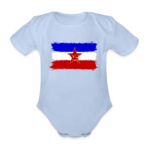 Jugoslawien Flagge - Baby Bio-Kurzarm-Body