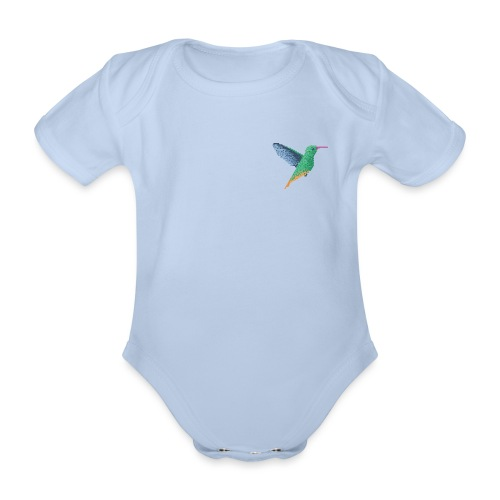 Hummingbird - Single - Organic Short-sleeved Baby Bodysuit