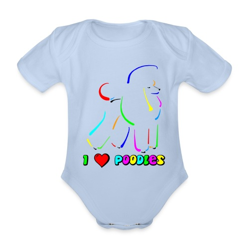 poodle on canvas finish tootiefruity gif - Organic Short-sleeved Baby Bodysuit
