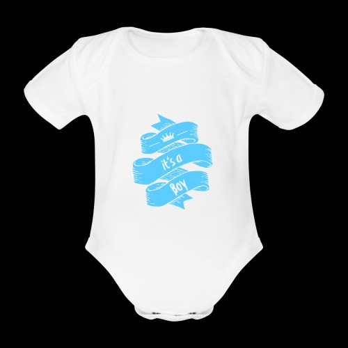 it's a Boy - Baby Bio-Kurzarm-Body