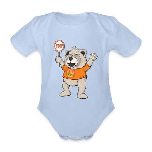 FUPO der Bär. Druckfarbe bunt - Baby Bio-Kurzarm-Body