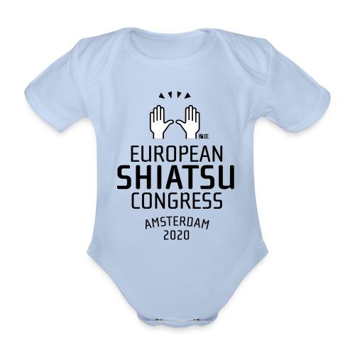 ESC logo - Baby bio-rompertje met korte mouwen