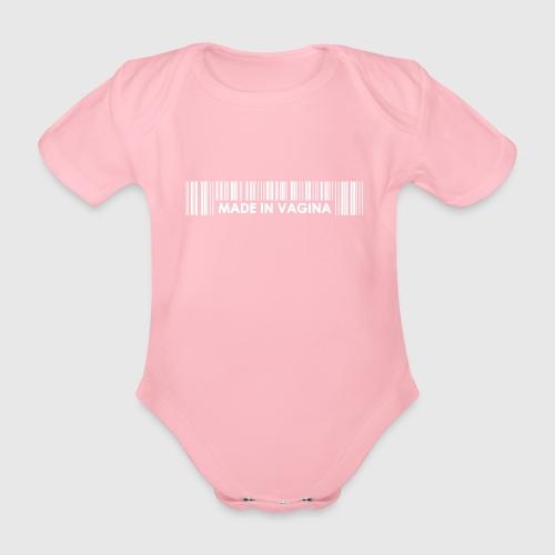 MADEINCHINA WHITE png - Kortærmet babybody, økologisk bomuld