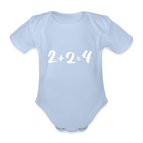 2 + 2 = 4 - Baby Bio-Kurzarm-Body