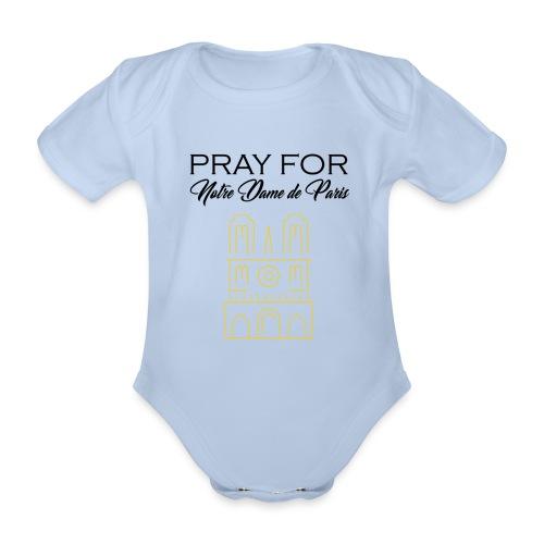 Pray For Notre Dame de Paris - Body Bébé bio manches courtes