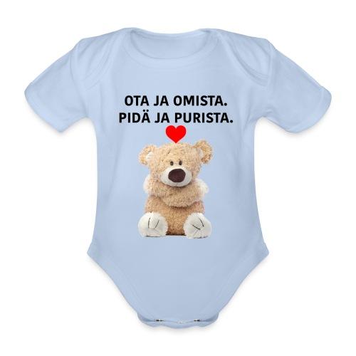 OTA JA OMISTA - Vauvan lyhythihainen luomu-body