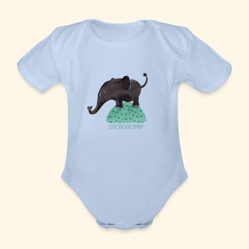 STRONGER BABY - Body orgánico de maga corta para bebé