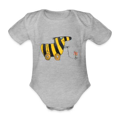 Janoschs Tigerente mit Blume - Baby Bio-Kurzarm-Body