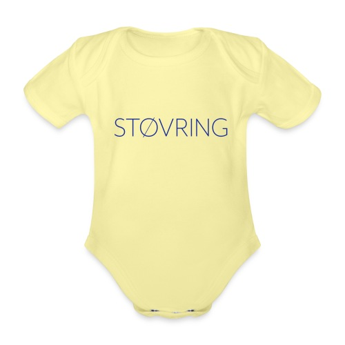 Støvring Plain - Kortærmet babybody, økologisk bomuld