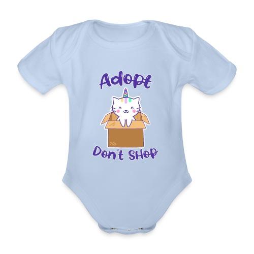 Adopt dont shop Tierheim Kinder Katzen Kitten - Baby Bio-Kurzarm-Body