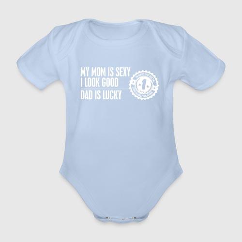 momloves WHITE png - Kortærmet babybody, økologisk bomuld