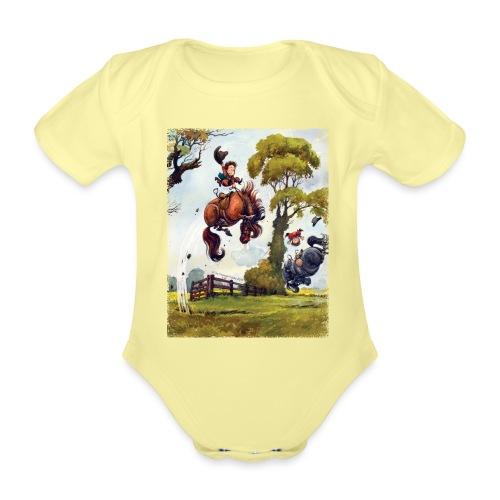 Thelwell Cartoon Pony Rodeo - Baby Bio-Kurzarm-Body