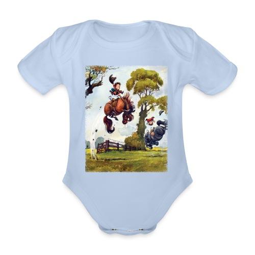 PonyRodeo Thelwell Cartoon - Organic Short-sleeved Baby Bodysuit