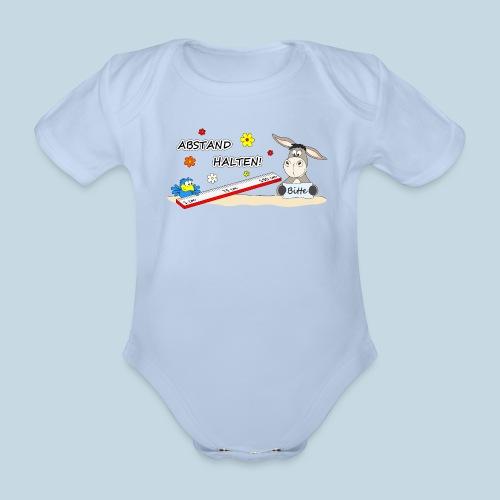 Abstand halten - Baby Bio-Kurzarm-Body