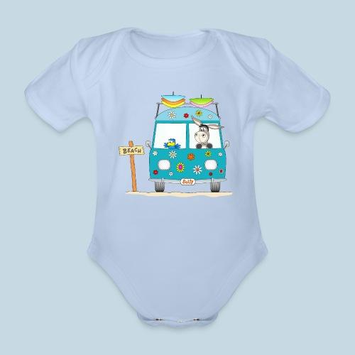 Wellenreiter Surfbus - Baby Bio-Kurzarm-Body