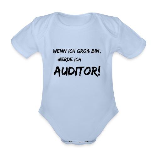 wenn ich gross bin... auditor black - Baby Bio-Kurzarm-Body