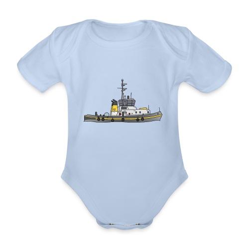 Schlepper Schleppschiff c - Baby Bio-Kurzarm-Body