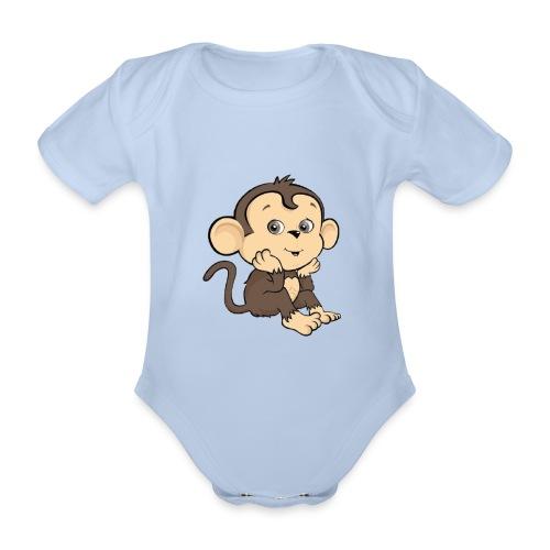 Monkey - Ekologisk kortärmad babybody