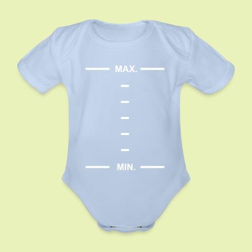 Min Max scale - Baby bio-rompertje met korte mouwen