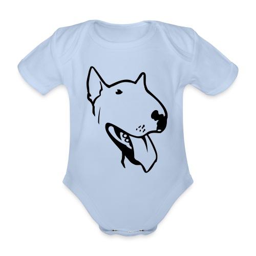 bull terrier2 - Organic Short-sleeved Baby Bodysuit