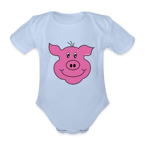 S33 Kids Schwein - Baby Bio-Kurzarm-Body