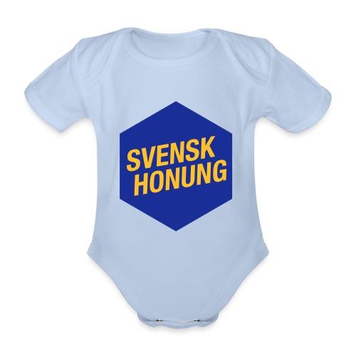 Svensk honung Hexagon Blå/Gul - Ekologisk kortärmad babybody