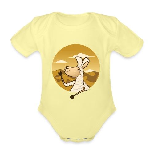 Waving Llama - Kortærmet babybody, økologisk bomuld