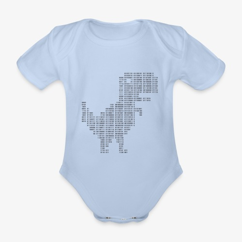 Dinosaur Binary | Google dinosaur | 404 | T-rex | - Organic Short-sleeved Baby Bodysuit